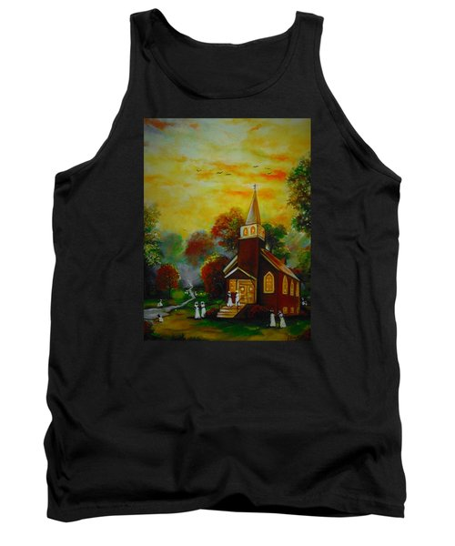 Tank Top featuring the painting This Sunday by Emery Franklin