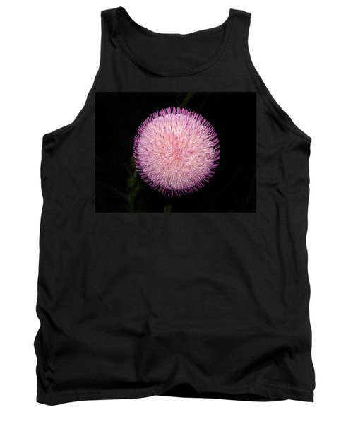 Thistle Bloom At Night Tank Top by J R Seymour