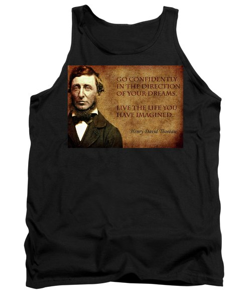 Thoreau Quote 1 Tank Top by Andrew Fare