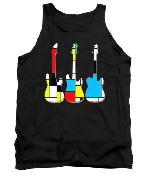 Three Guitars Modern Tee Tank Top by Edward Fielding