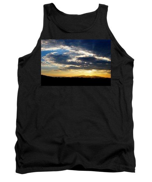 Three Peak Sunset Swirl Skyscape Tank Top