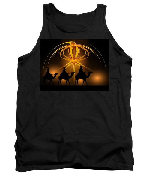 Three Wise Men Christmas Card Tank Top