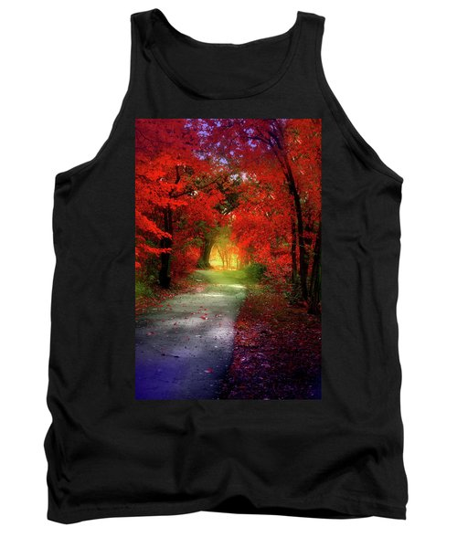 Through The Crimson Leaves To A Golden Beginning Tank Top