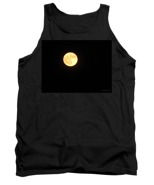 Tie Dyed Orange Moon Tank Top