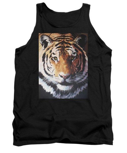Tiger Portrait Tank Top by Vivien Rhyan