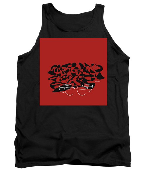Tank Top featuring the digital art Timpani In Orange Red by Jazz DaBri
