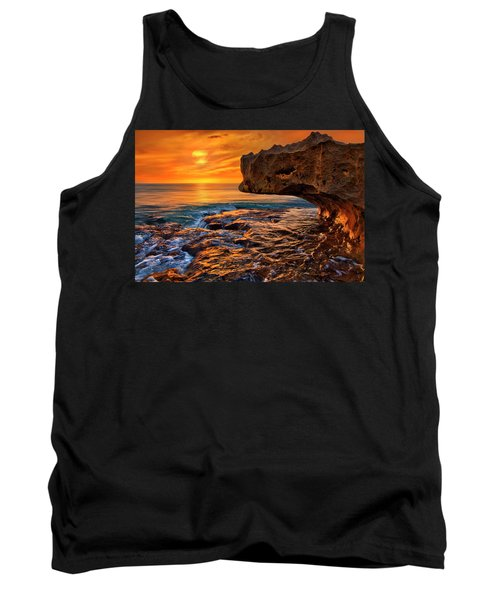 To God Be The Glory - Sunrise Over Ocean Reef Park On Singer Island Florida Tank Top