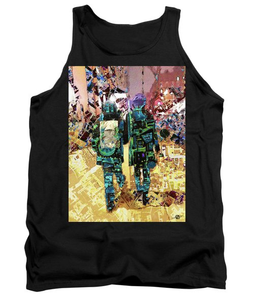 Tank Top featuring the painting Together by Tony Rubino