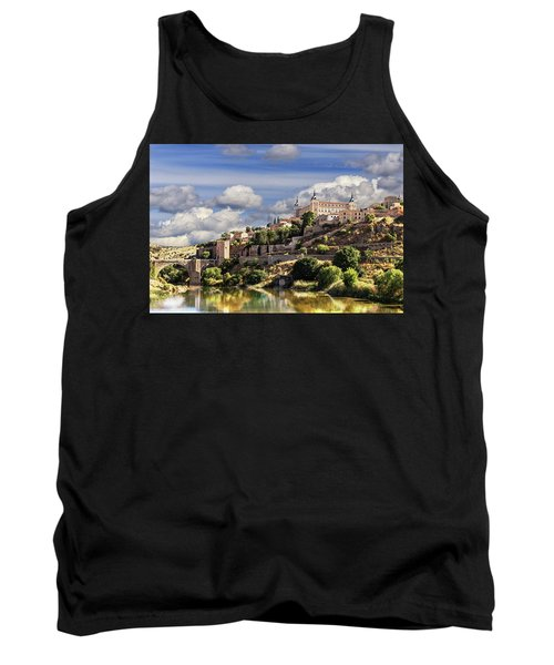 Toledo. Majestic Stone Fortress The Alcazar Is Visible From Any Part Of The City Tank Top