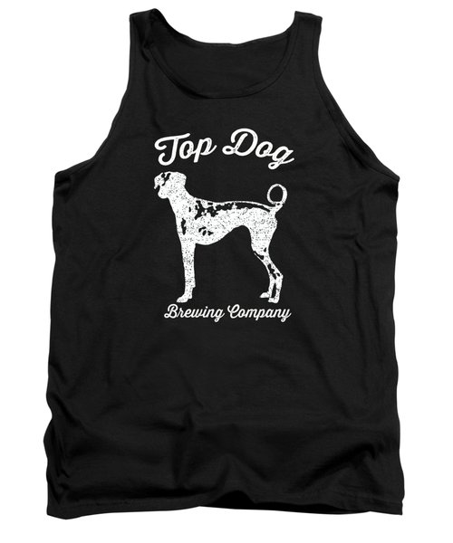 Top Dog Brewing Company Tee White Ink Tank Top