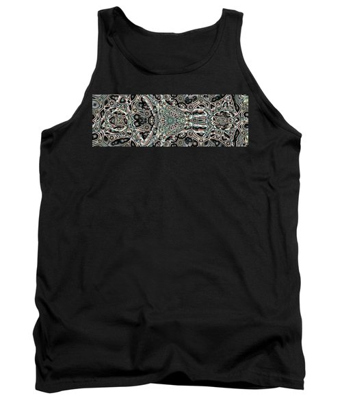Tank Top featuring the digital art Torn Patterns by Ron Bissett