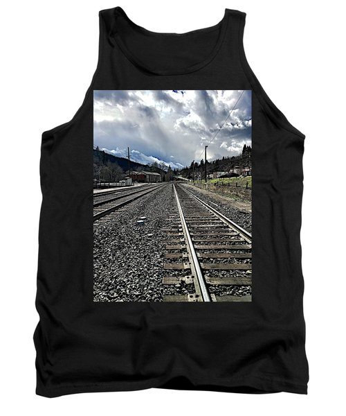 Tank Top featuring the photograph Tracks by JoAnn Lense