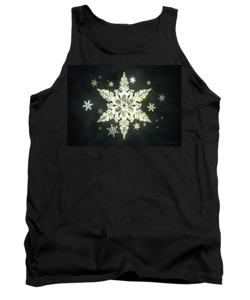 Traditional Sunlight Snowflakes Tank Top