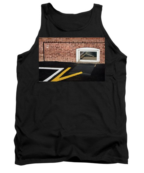 Tank Top featuring the photograph Traffic Line Conversion In Window by Gary Slawsky