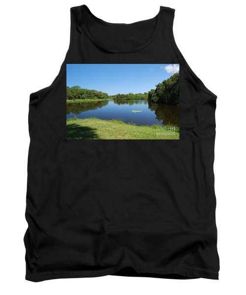 Tank Top featuring the photograph Tranquil Lake by Gary Wonning