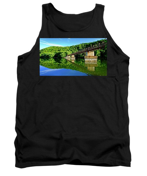 Tranquility At The James River Footbridge Tank Top