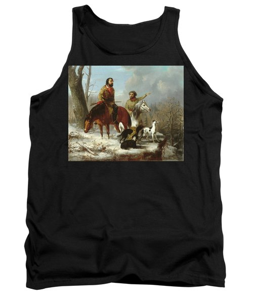 Tank Top featuring the painting Trappers             by Trego and Williams