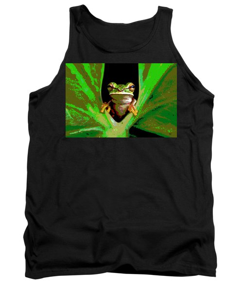 Treefrog Tank Top by Charles Shoup
