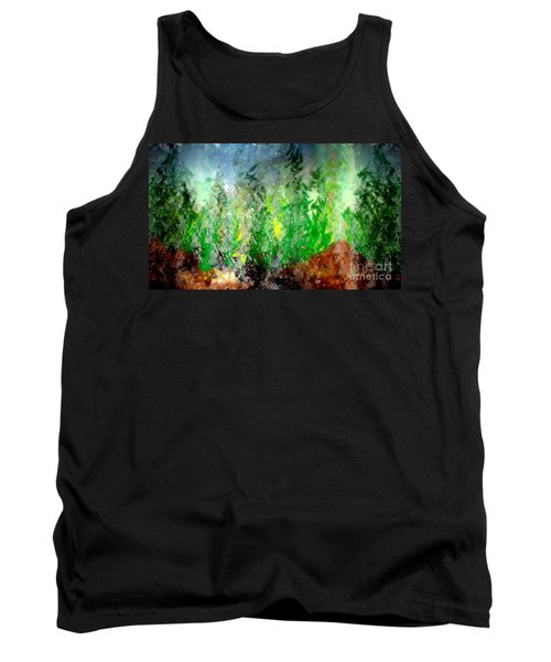 Tank Top featuring the painting Trees 4 by John Krakora
