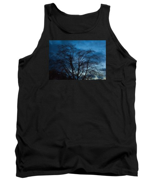 Trees At Dusk Tank Top by John Rossman