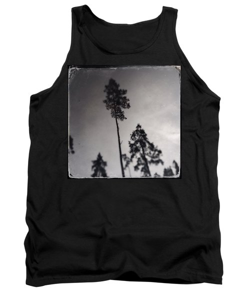 Trees Black And White Wetplate Tank Top