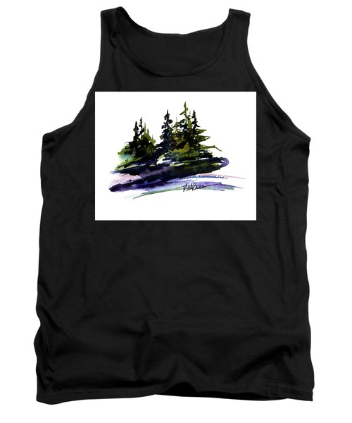 Tank Top featuring the painting Trees by Marti Green