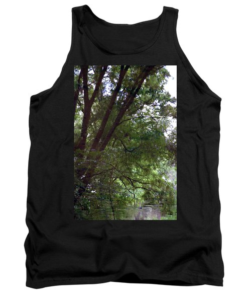 Trees Reflected In A Woodland Stream 2867 H_2 Tank Top