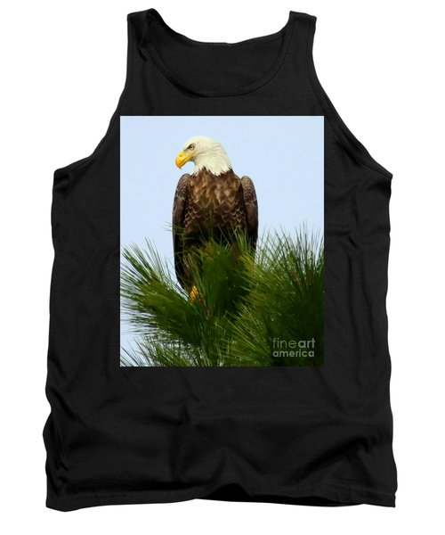 Treetop Eagle Tank Top by Myrna Bradshaw