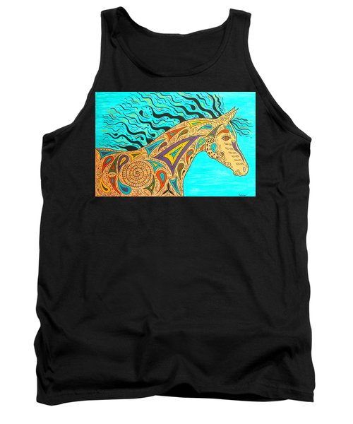 Tribal Carnival Spirit Horse Tank Top by Susie WEBER