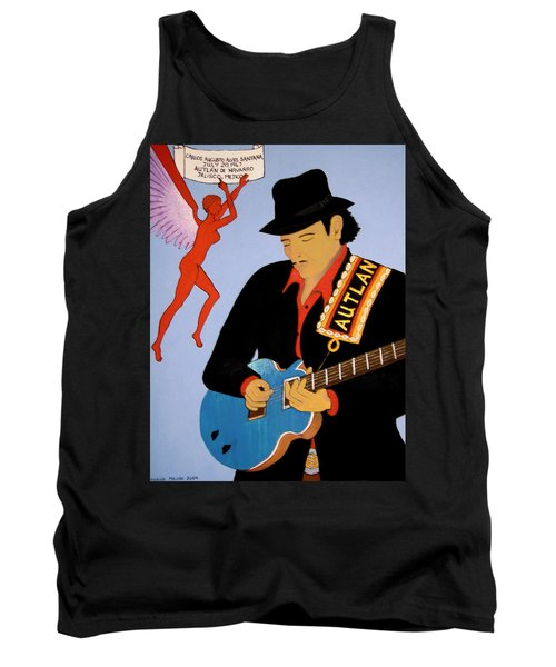 Tank Top featuring the painting Tribute To Carlos by Stephanie Moore
