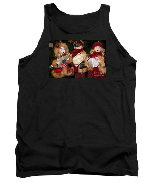 Trio Of Carolers Tank Top by Vinnie Oakes