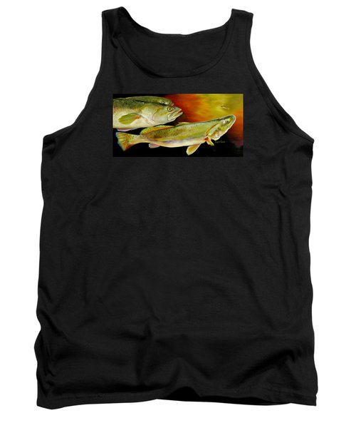 Triple Trout Tank Top by Phyllis Beiser