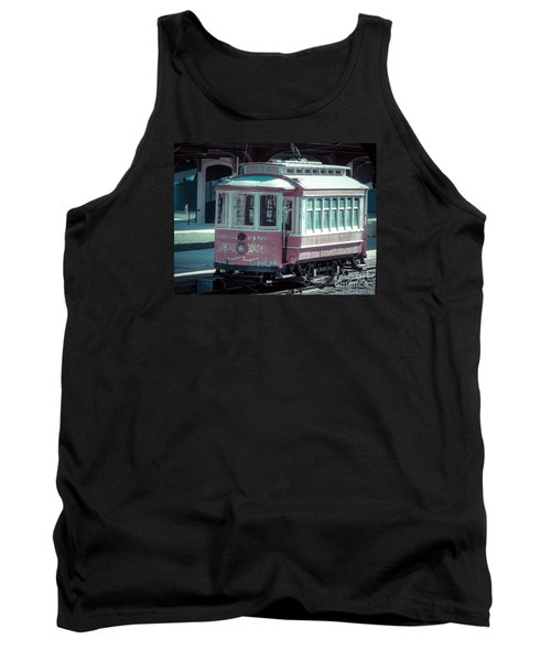 Tank Top featuring the photograph The Trolley by Melissa Messick