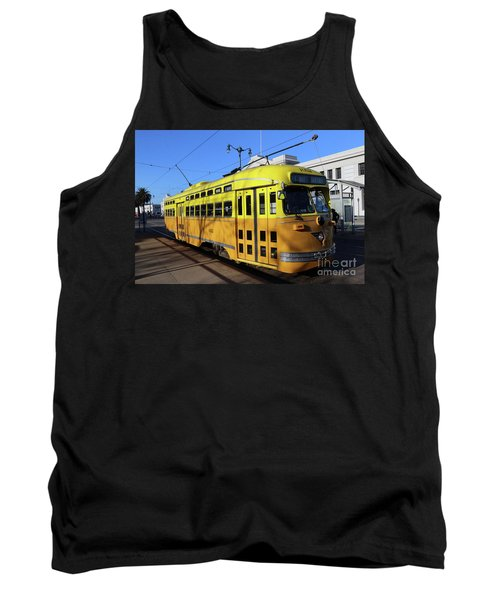 Tank Top featuring the photograph Trolley Number 1052 by Steven Spak