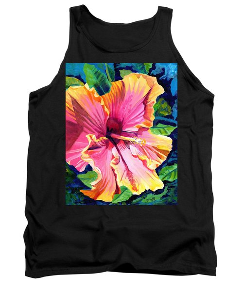 Tropical Bliss Hibiscus Tank Top