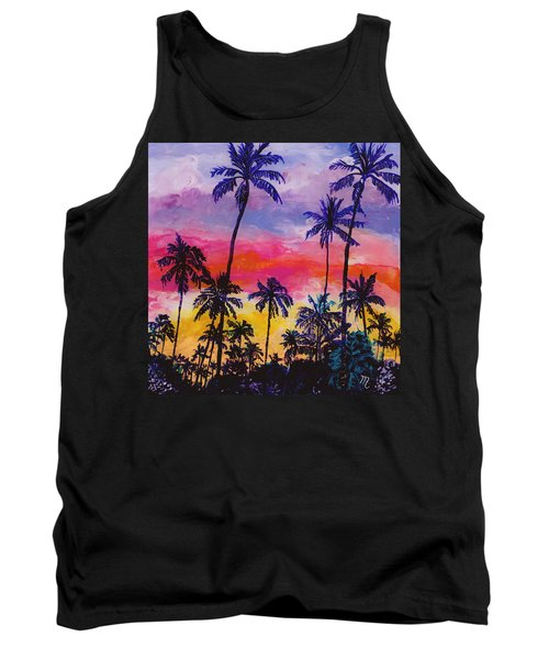 Tropical Coconut Trees Tank Top
