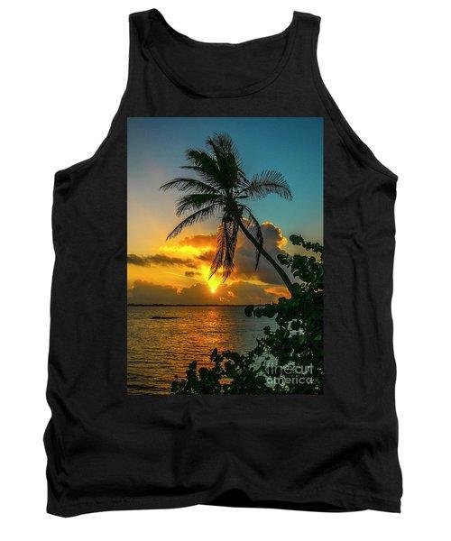 Tropical Lagoon Sunrise Tank Top