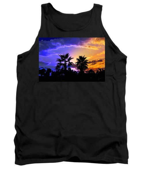 Tank Top featuring the photograph Tropical Nightfall by Francesa Miller