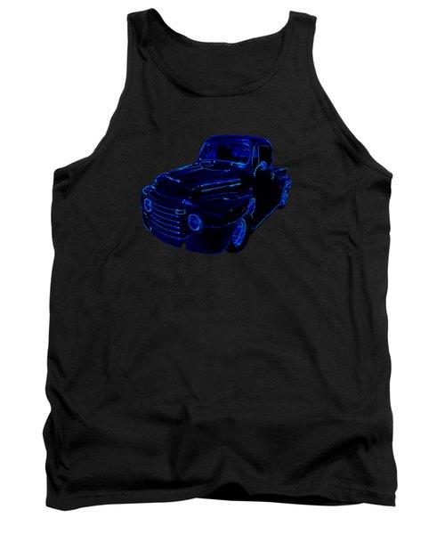 Truck Art Neon Blue Tank Top