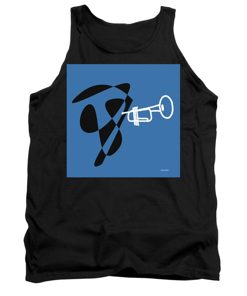 Tank Top featuring the digital art Trumpet In Blue by Jazz DaBri