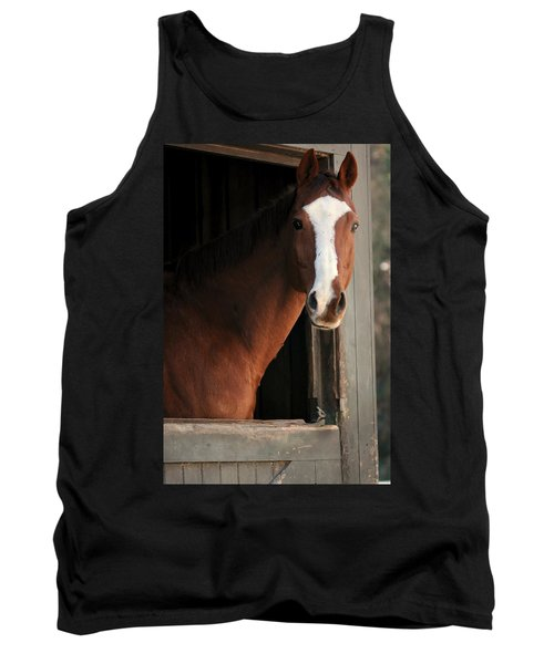 Tank Top featuring the photograph T's Window by Angela Rath