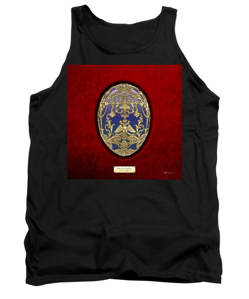 Tsarevich Faberge Egg On Red Velvet Tank Top by Serge Averbukh