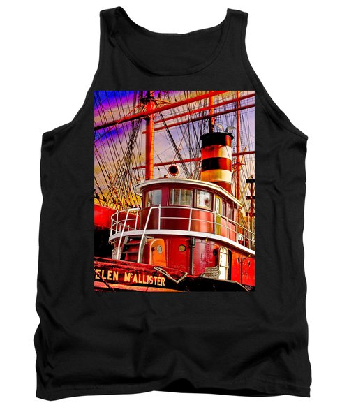 Tank Top featuring the photograph Tugboat Helen Mcallister by Chris Lord