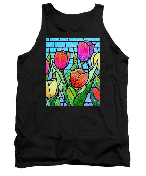 Tulip Garden Tank Top by Jim Harris