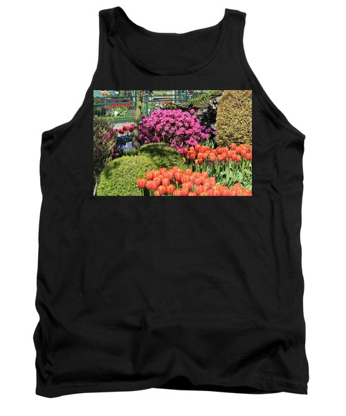 Tulips And Rhodies Tank Top