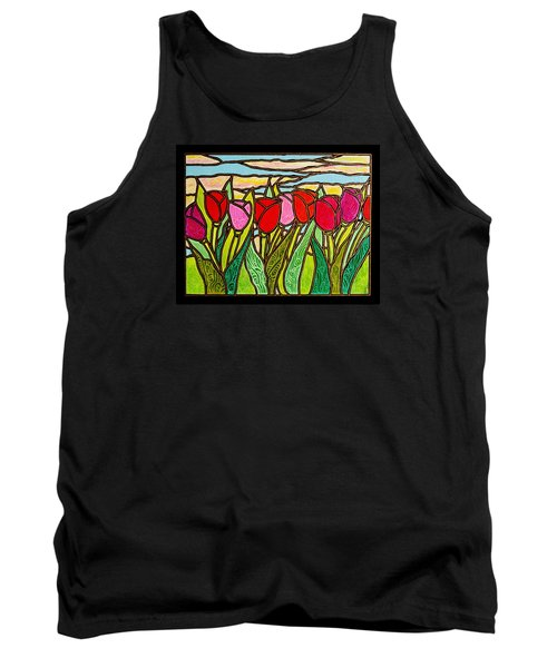 Tulips At Sunrise Tank Top