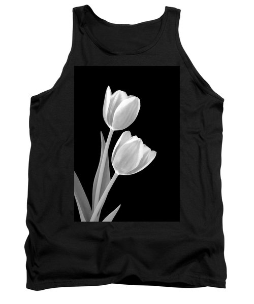 Tulips In Black And White Tank Top