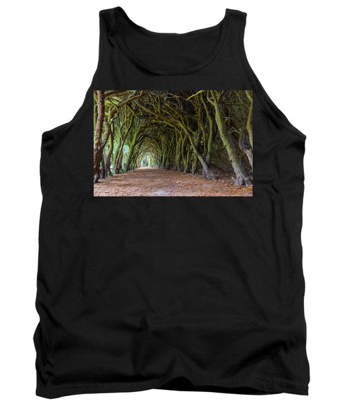 Tank Top featuring the photograph Tunnel Of Intertwined Yew Trees by Semmick Photo