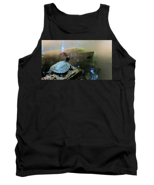 Turtle On Rock Tank Top by Mark Barclay