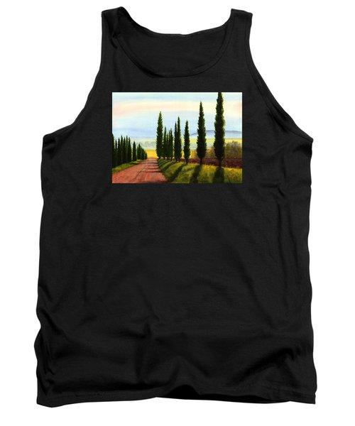 Tuscany Cypress Trees Tank Top